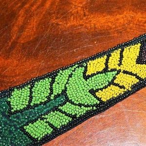 Other - Antique Art Deco Beaded Silk Neck Tie MS1